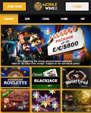 Neteller Casino - MobileWins Lobby