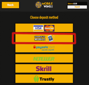 Pick deposit method - SMS Casino Guide