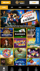 MobileWins Lobby - Skrill Casino