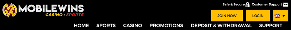 Trustly Casino Homepage of MobileWins