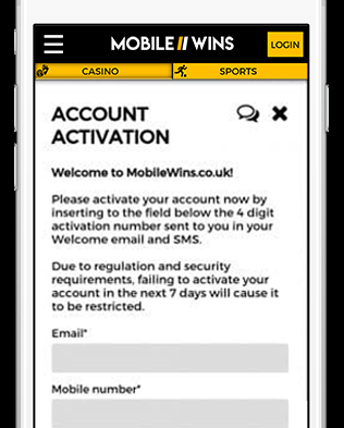 Pay via Phone Bill Casino at MobileWins - Account Activation