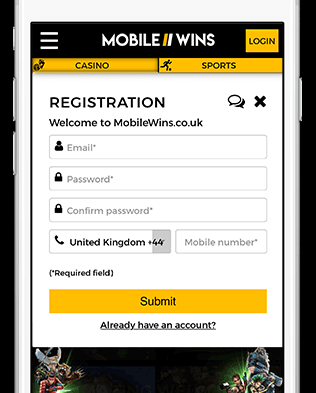 Ideal Casino - MobileWins Lobby Signup