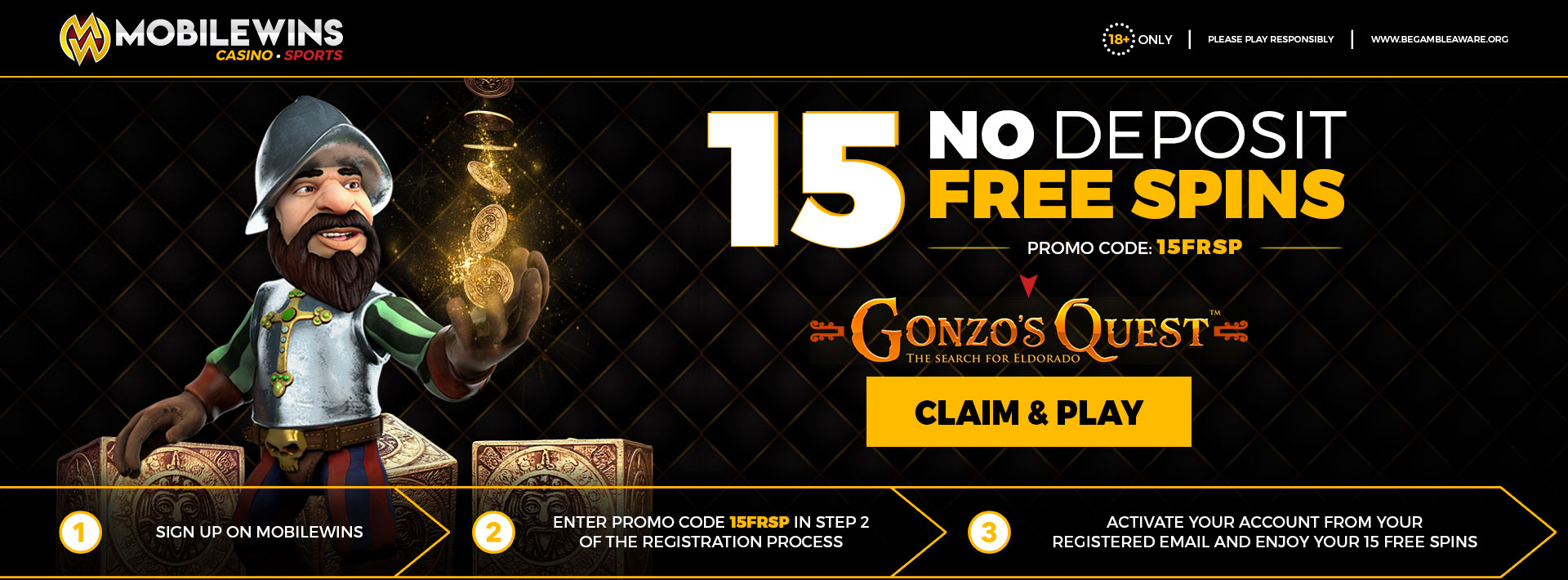 Promotion 15 No Deposit Free Spins