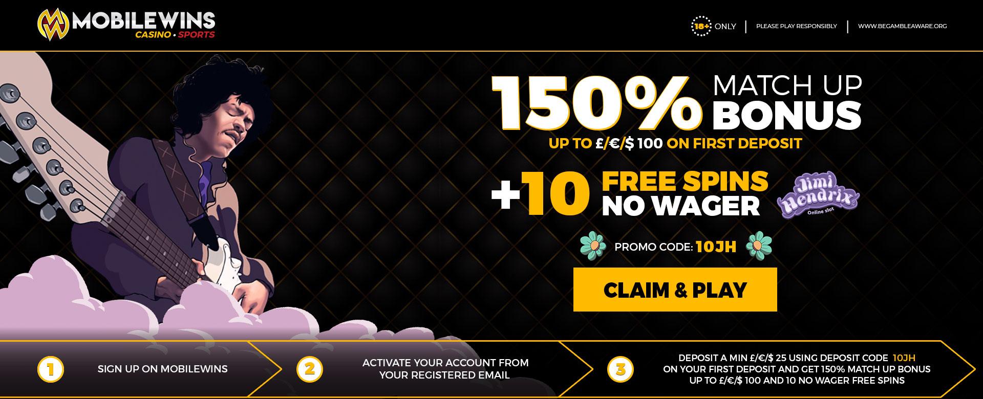Promotion 150% + 10FS
