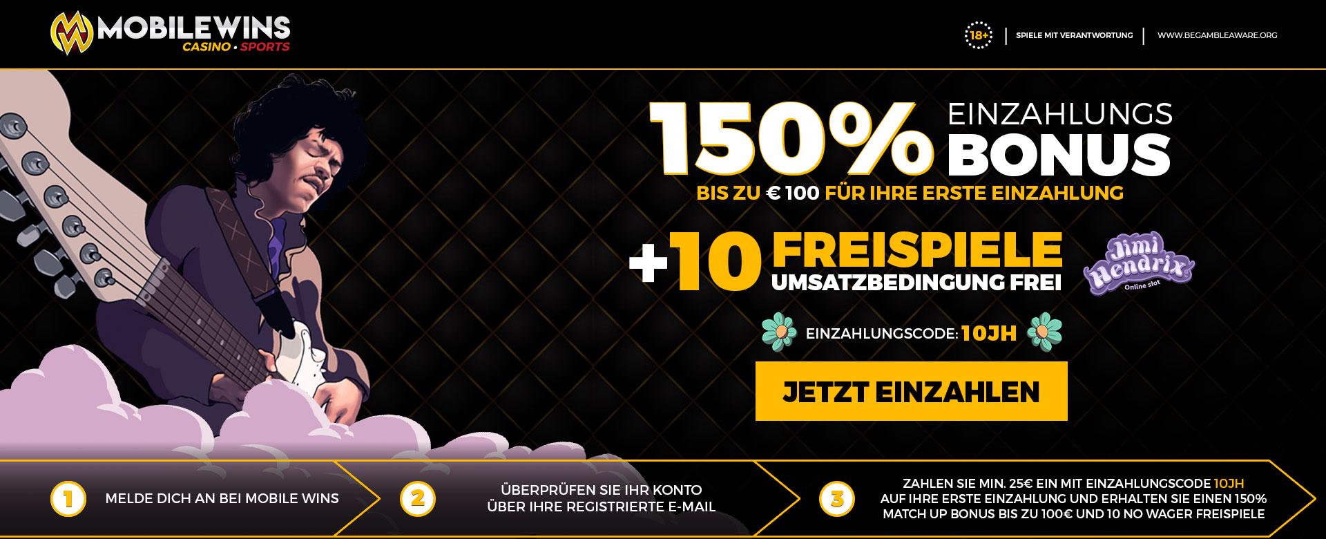 Promotion 150% + 10FS DE