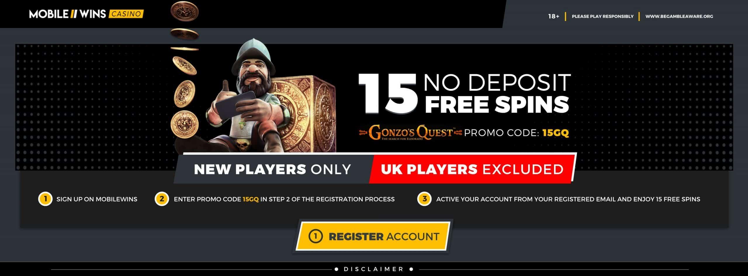 Promotion 15 No Deposit Free Spins