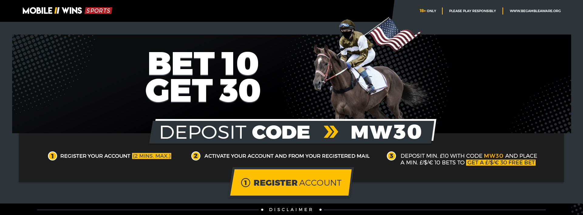 Bet 10 get 30 sports mcgregor sports betting