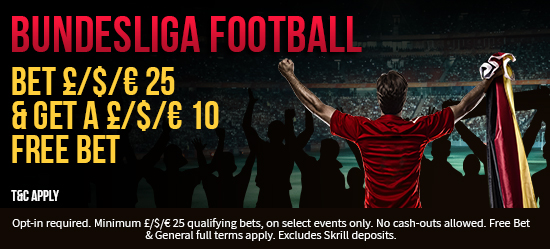 Get your £/$/€10 free bet