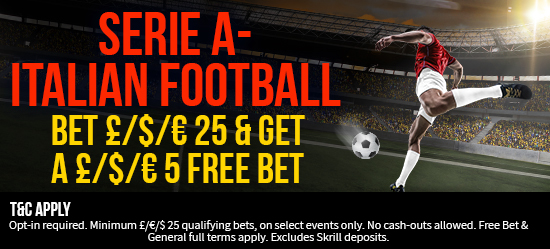 GET YOUR £/$/€5 FREE BET